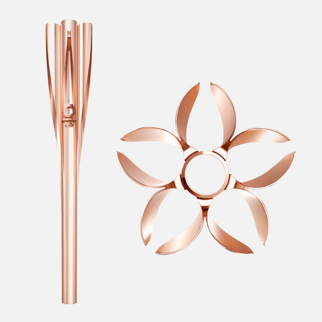 Japanese cherry blossoms inform Tokyo 2020 Olympic torch design