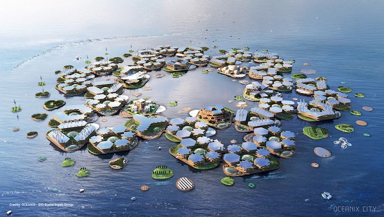 Architects Unveil Self-Sustaining Floating City at the United Nations