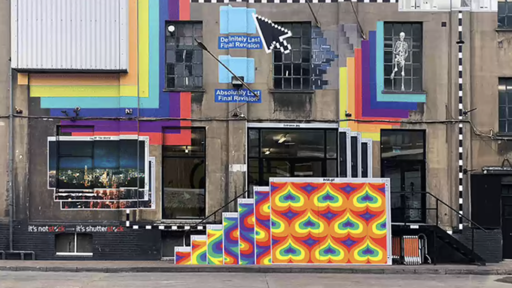 This street mural was inspired by overworked designers