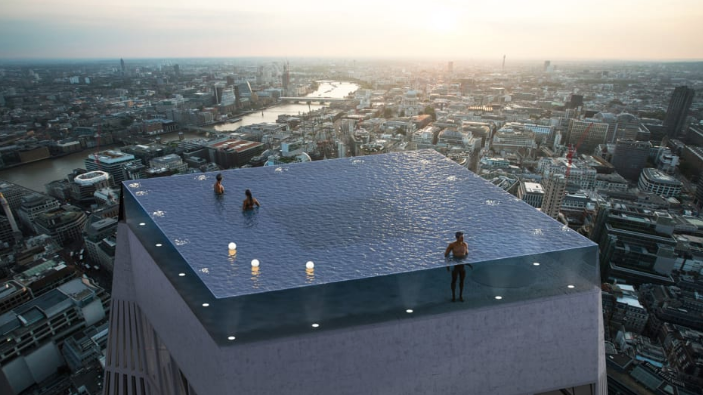 See this terrifying concept for a 360-degree infinity pool atop a skyscraper
