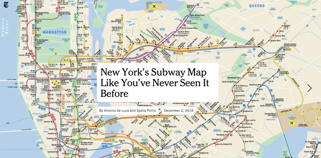 New York's Subway Map Like You've Never Seen It Before